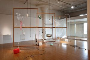Yuko MOHRI Moré Moré (Leaky): The Falling Water Given #1-3, Nissan Art Award 2015 Photo: Keizo Kioku