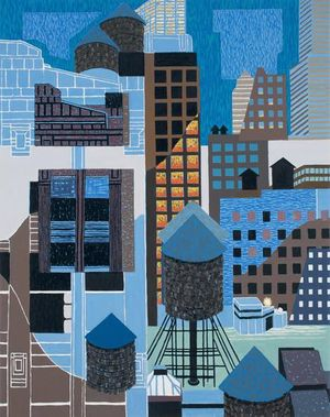 New Highrise Hotel, Old Chelsea, 2014 Oil on canvas, 42 ¼ x 33 ½ inches  1 / 23   New Highrise Hotel, Old Chelsea, 2014 Oil on canvas, 42 ¼ x 33 ½ inches  1 / 23