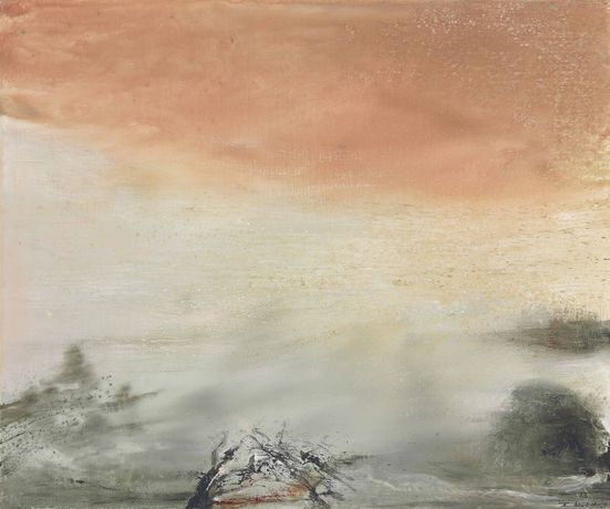 Zao Wou, 04.02.88, 1988 Oil on canvas, 54.5 by 65 cm.
