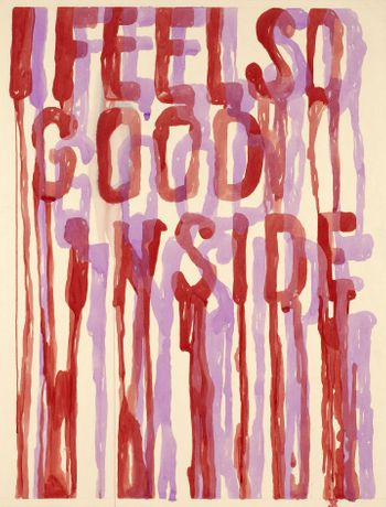 Marc Rebollo, I feel so good inside, 2009, Gouache on paper, 100 x 80 cm