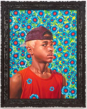 Kehinde Wiley: Anderson Romualdo Cordeiro, 2008. Oil on cancas, 48