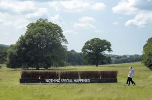 Katrina Palmer: The Coffin Jump. Courtesy of Yorkshire Sculpture Park