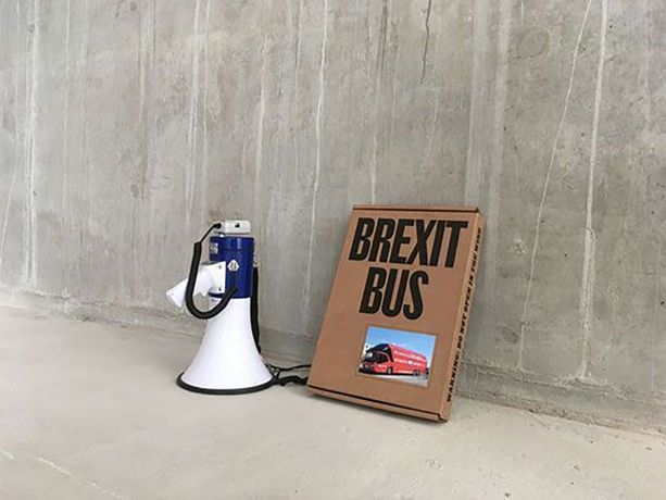 Brexit Bus, Arnaud Desjardin & Fraser Muggeridge, 2019. Courtesy of the artists and Matt's Gallery, London.