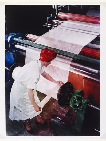 Preparing a Warp, British Nylon Spinners, Pontypool, Wales 1964