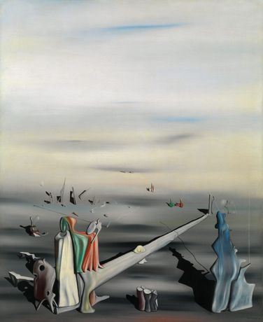 Yves Tanguy, The Satin Tuning Fork, Oil on canvas, 39 x 32 in. (99.1 x 81.3 cm), 1940, Jacques and Natasha Gelman Collection, © 2020 Artists Rights Society (ARS), New York