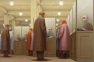 George Tooker's 'Government Bureau,' 1956 Credit Photo courtesy of The Metropolitan Museum of Art and DC Moore Gallery, NY